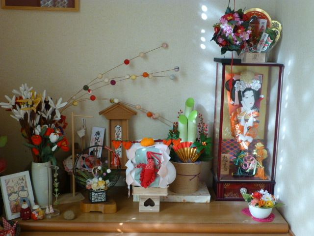 お正月のしつらえしました 『四季彩うさぎ』の四季の楽しみ【うさぎと季節の和の布飾り・インテリア和雑貨・布小物】