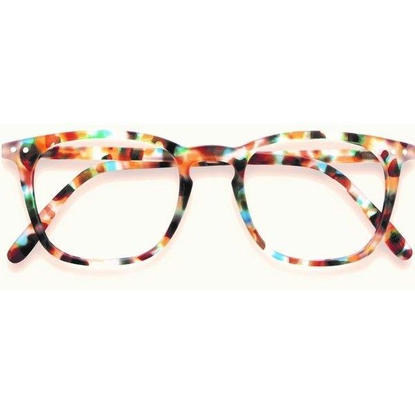 ff0dd07b31c Stylish Izipizi Blue Tortoise Shell Reading Glasses ( 32) ❤ liked on  Polyvore featuring accessories