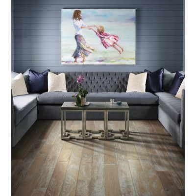 "Shaw Floors Chic Hickory 4.8"" Engineered Hardwood Flooring in Sophisticated"