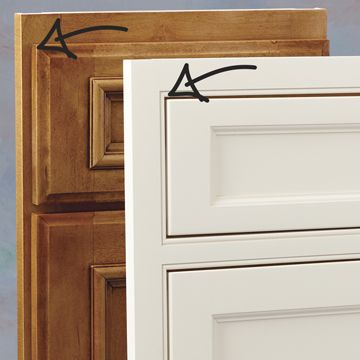 The Difference Between Overlay Cabinets And Inset Is Ilrated In This Photo