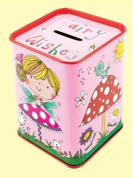 Rachel Ellen fairy wishes and toadstools Money Box Tin: Amazon.co.uk: Toys & Games