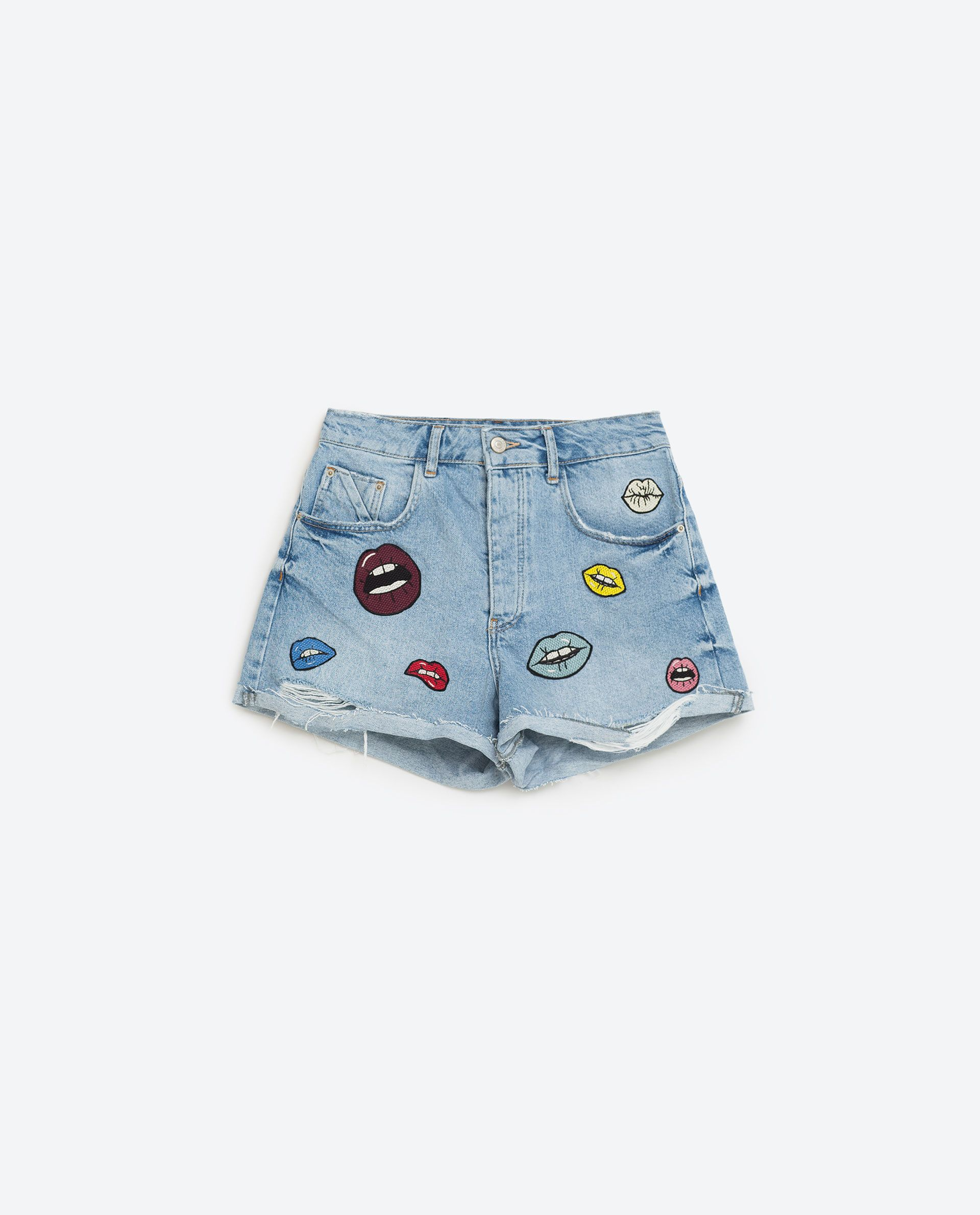 91dc83f0499 Summer Clothes 2016 | 40 pieces to add to your ZARA cart rn | Denim Mom  Shorts with Patches, $39.90