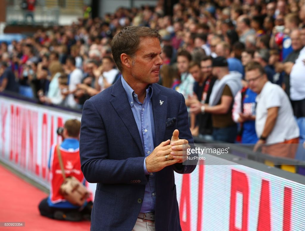 Crystal Palace manager Frank de Boer during Premier League match between Crystal Palace and Huddersfield Town at Selhurst Park Stadium, London, England on 12 August 2017.