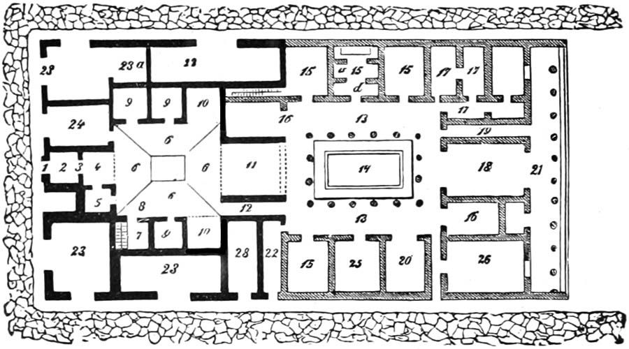 Modern Roman Villa Floor Plan The Project Gutenberg EBook Of