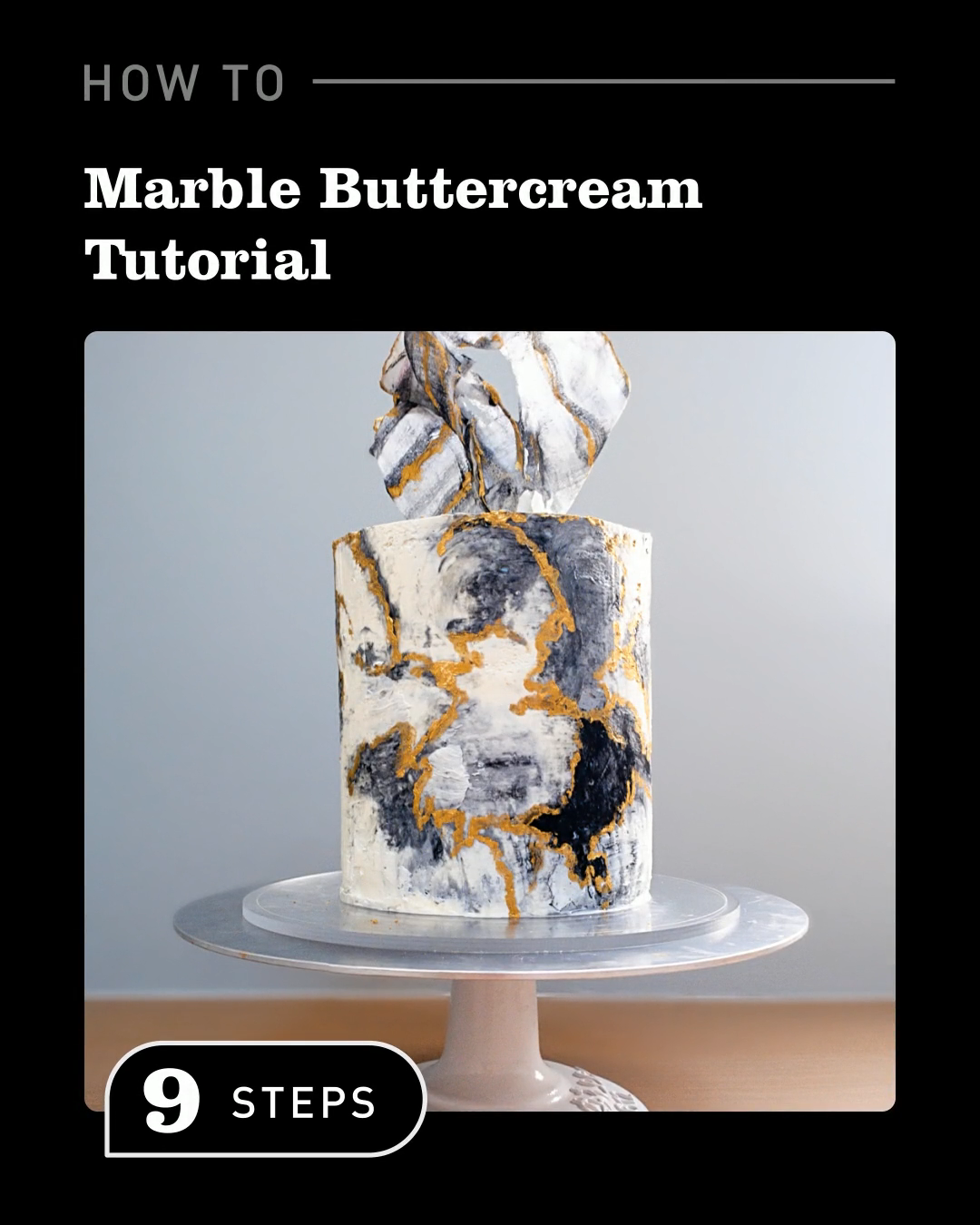 Marblue Buttercream Cake #cakedecoratingvideos