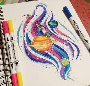 Art Markers Dual Tips Coloring Brush Pen Fineliner Color Pens 60 Colors Of Permanent Marker Highlighter Pens Art Markers Drawing Marker Art Copic Marker Art