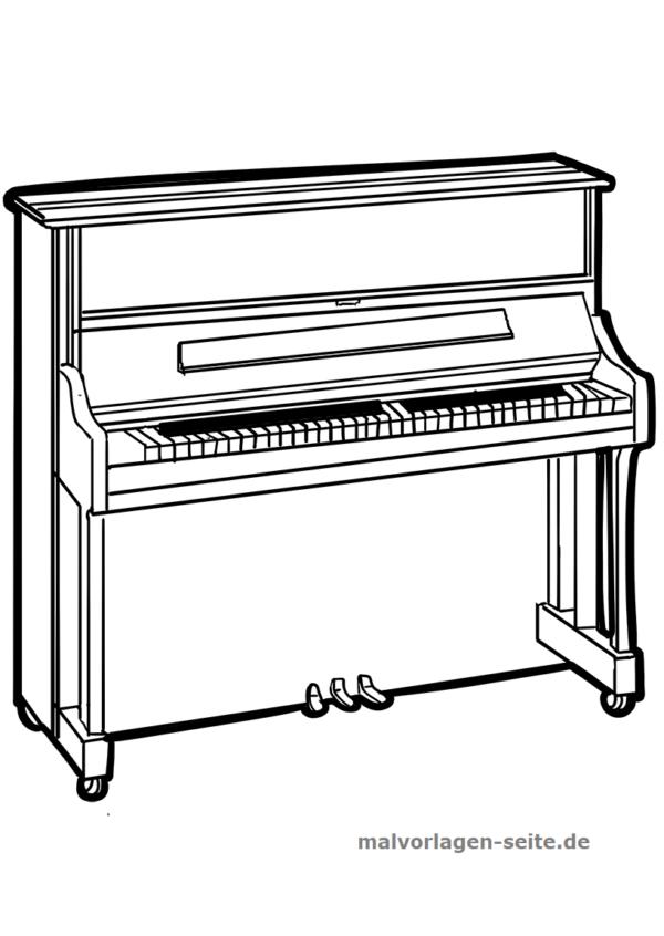Malvorlage Klavier Musik Klavier Instrumente Selber Bauen Ausmalen Fur Kinder