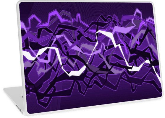 Funky Purple Abstract Waves   Design available for PC Laptop, MacBook Air, MacBook Pro, & MacBook Retina.