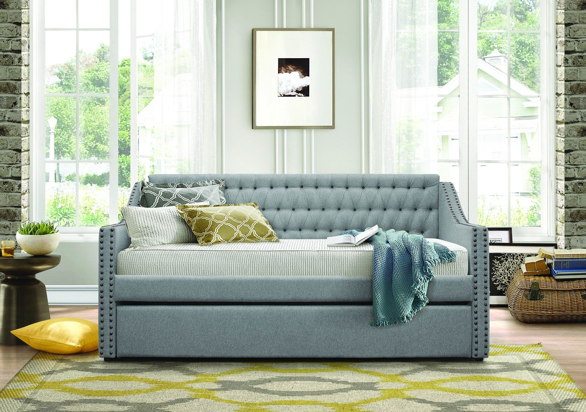 Tulney Daybed With Trundle Daybed With Trundle Daybed In Living