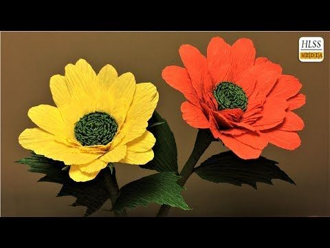 How to make daisy paper flower diy daisy crepe paper flower making how to make daisy paper flower diy daisy crepe paper flower making tutorials paper crafts youtube mightylinksfo
