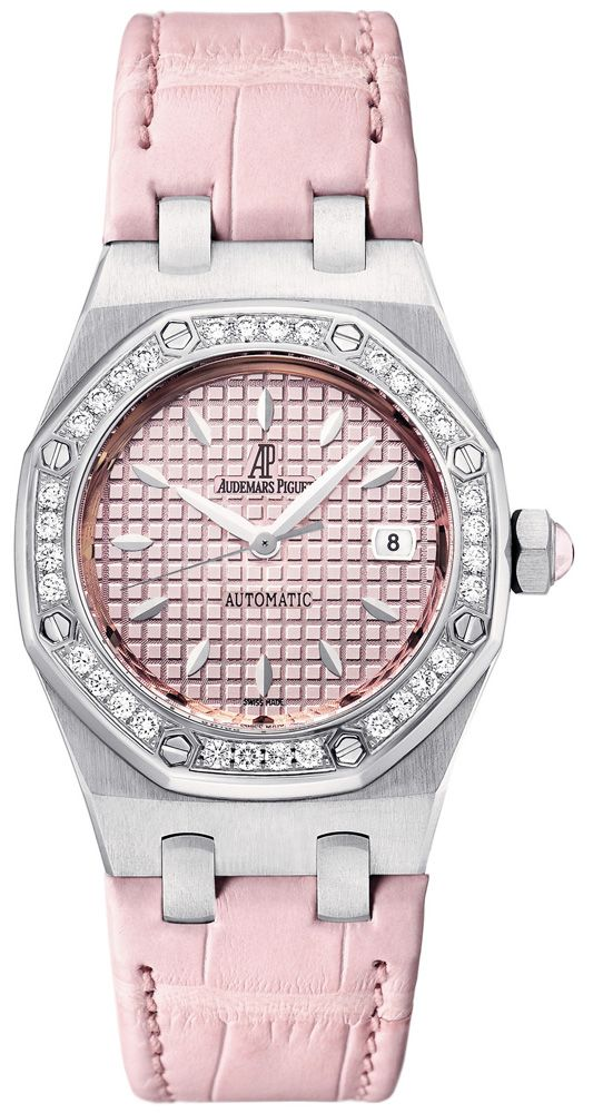 06b4c58a5872 Audemars Piguet Automatic Diamond Pink Dial Stainless Steel Ladies Watch  77321ST.ZZ.D057CR.01