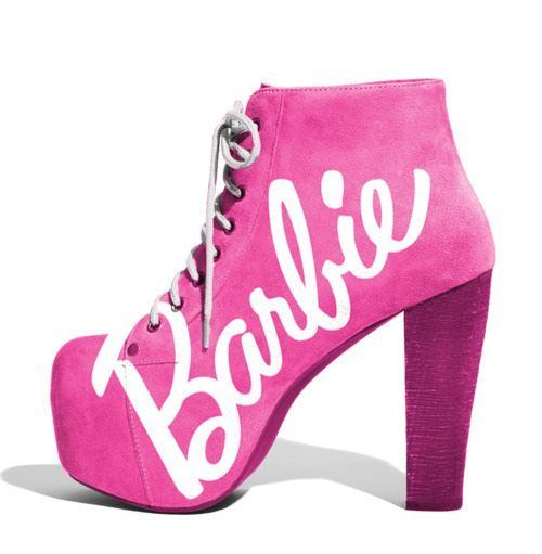 Verrassend Pink Boots With Barbie Logo | Head Over Heels | Barbie shoes, Life NM-48