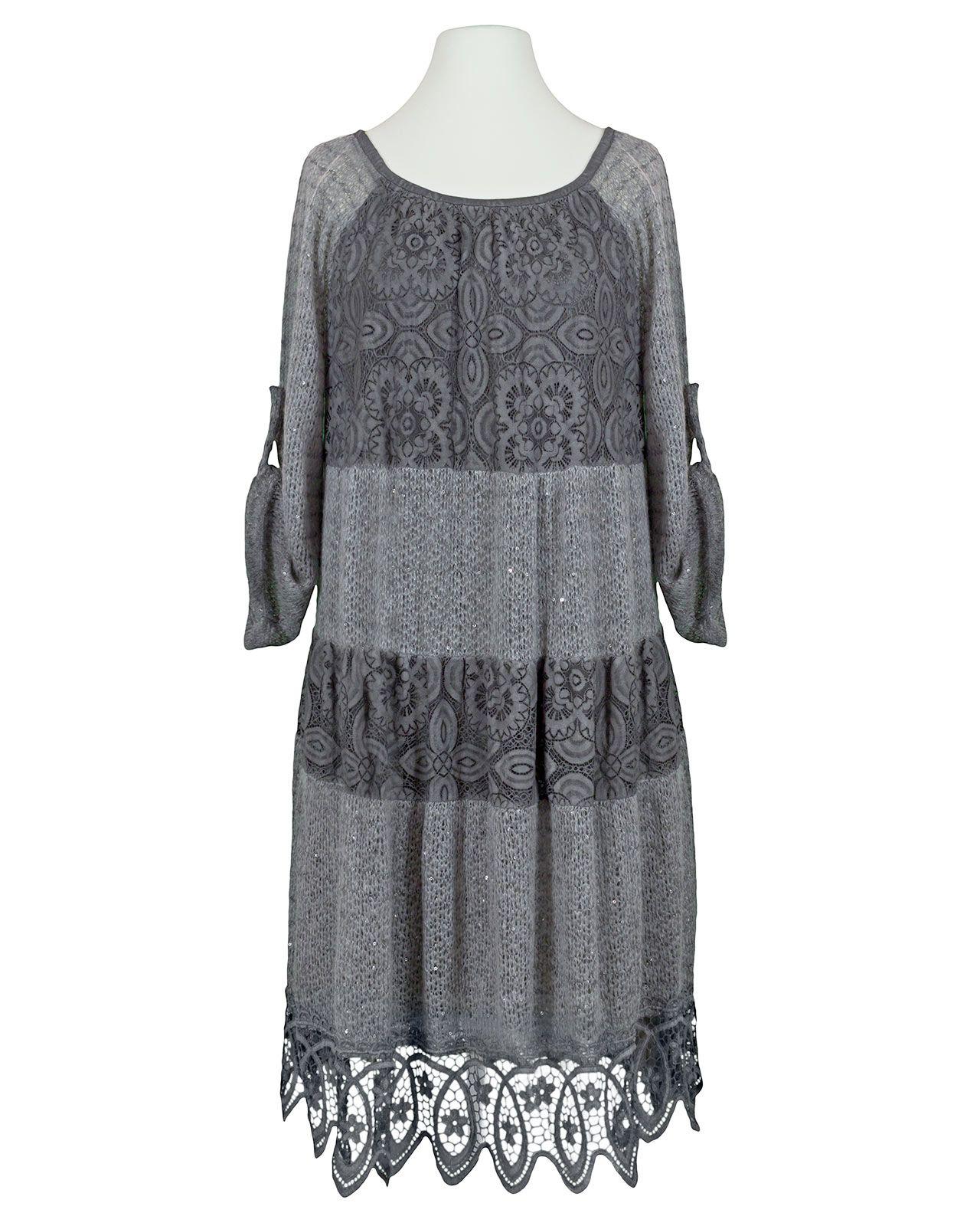 kleid mit spitze, grau bei meinkleidchen kaufen | kleid