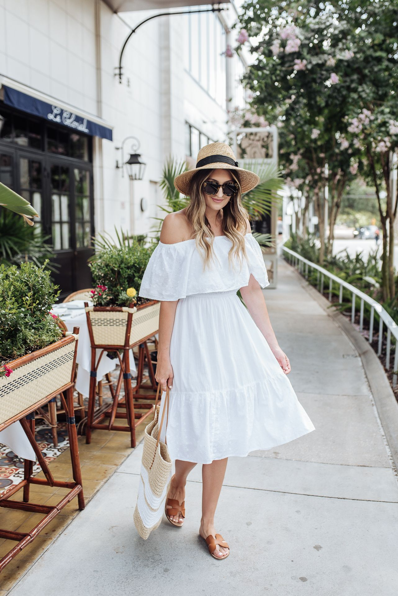 White Off The Shoulder Dress From Walmart White Off Shoulder Dresses Shoulder Dress [ 1920 x 1282 Pixel ]