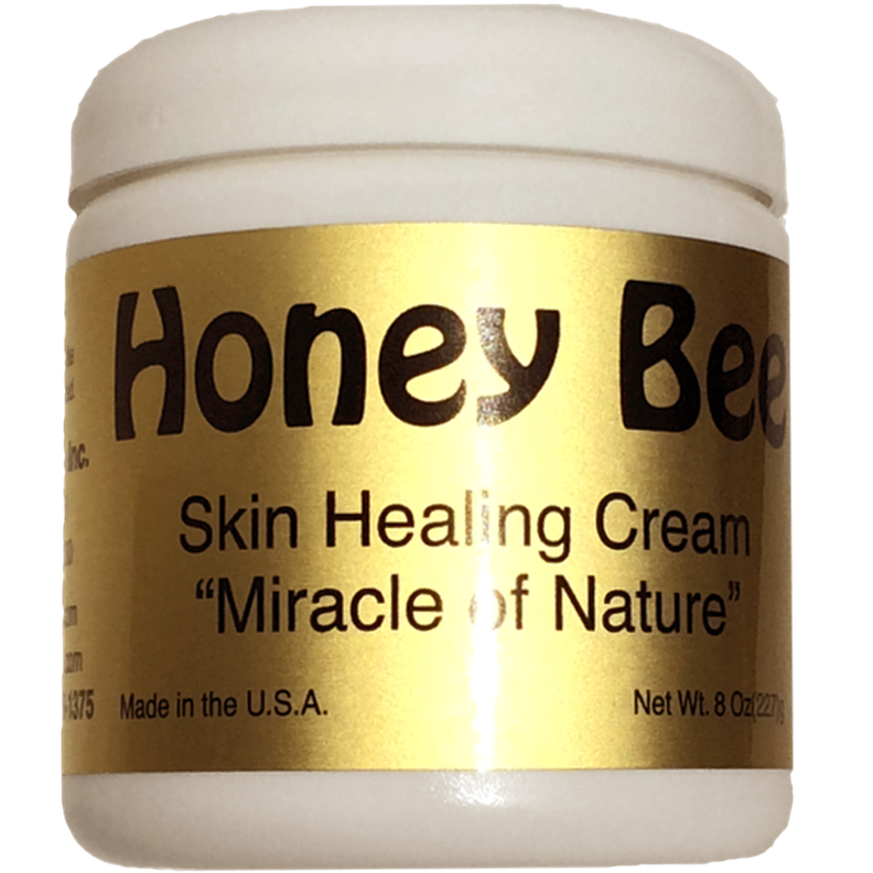 Honey Bee Skin Healing Cream - 8 oz. This stuff is amazing!! It is the only lotion I put in my face. It is all natural, non-greasy, and helps keep my face clear of blemishes.
