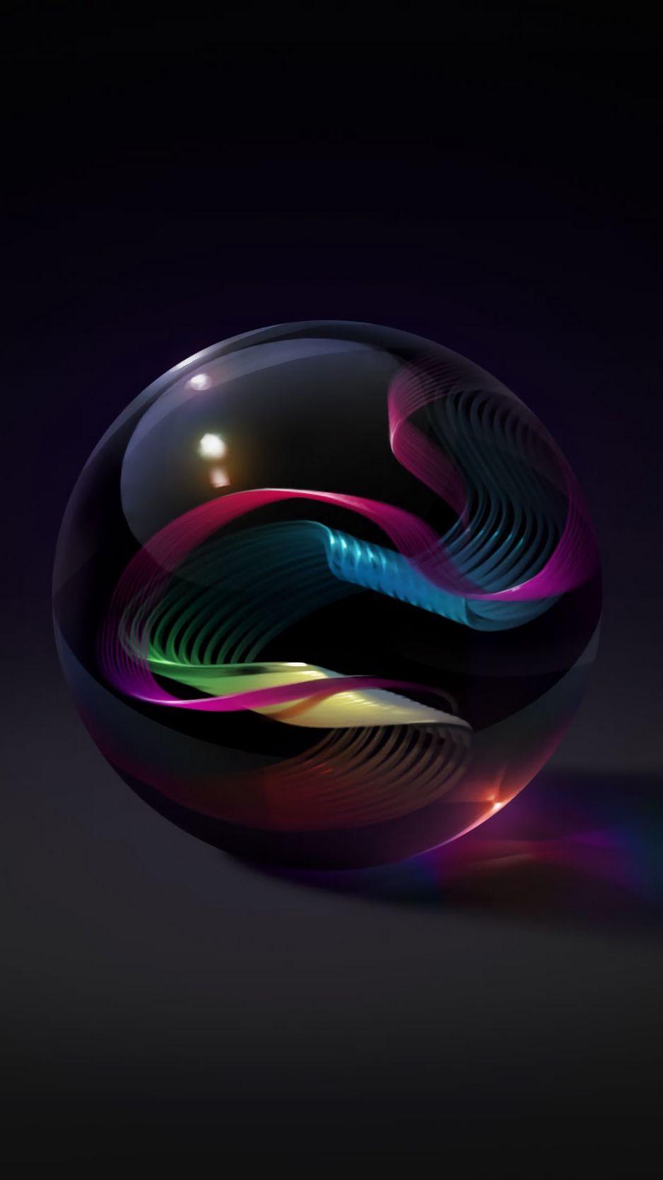 938x1668 Wallpaper Ball Glass Art Patterns Telefon Duvar