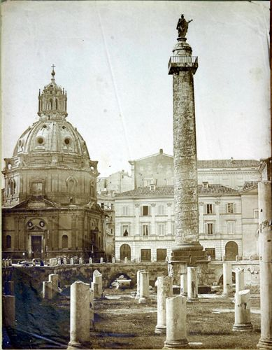 Roma ForumTraianum 1850 (ca) Salt print from paper negative