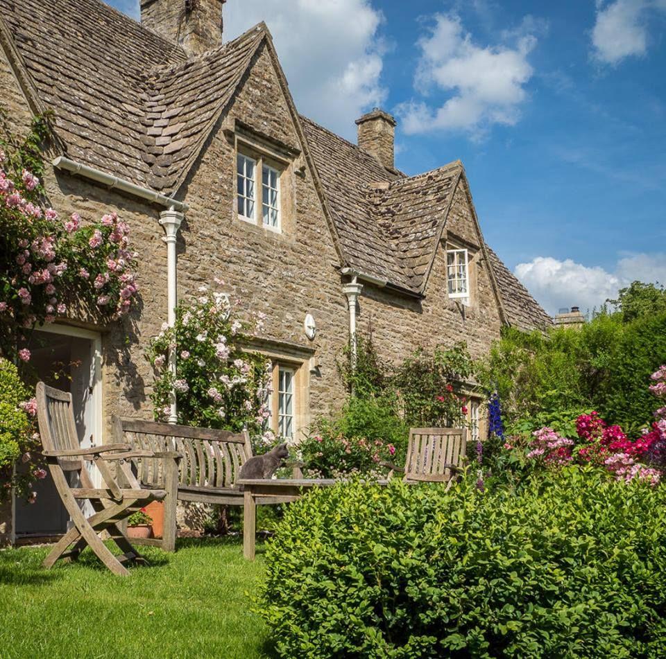 Cottage Garden In The Village Of Eastleach