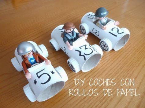 Diy coche con rollos de papel higi nico for Espejos para ver a los bebes en el coche