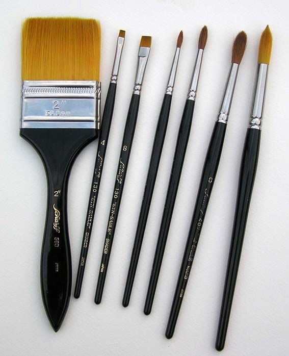 Watercolor Brushes Which Are The Best Brushes For My Watercolor Paintings Watercolor Instruction By Doris Joa Best Watercolor Brushes Watercolor Brushes Watercolor Painting Techniques