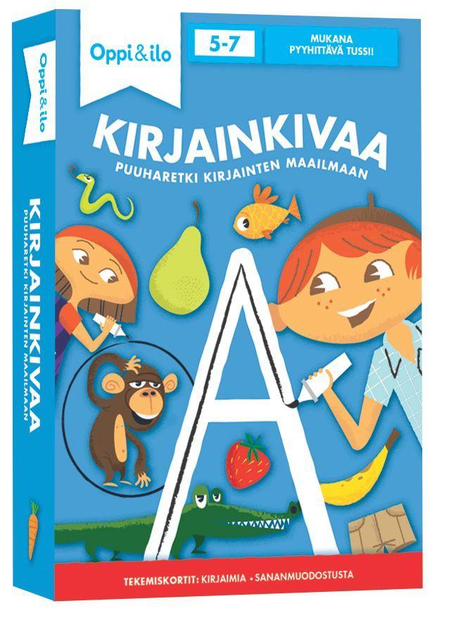Kirjainkivaa - tekemiskortit 5-7-vuotiaille. Paketillinen valmiita harjoituksia äänne-kirjain-vastaavuuksien opetteluun,...