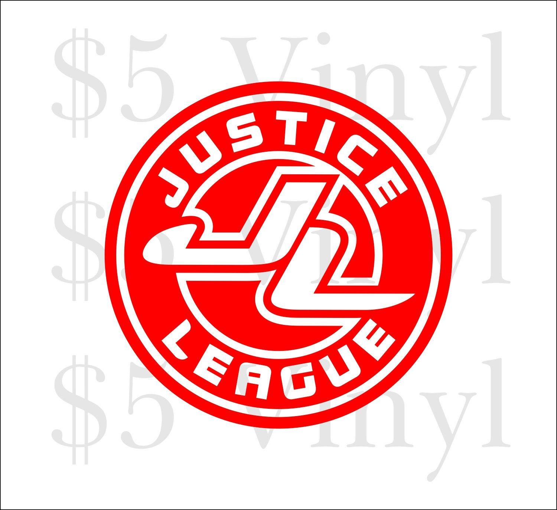 Justice League Emblem Vinyl Car Decal Wonder Woman Superman Dc Sticker Superfriends Batman Window Decal Car Decals Vinyl Window Decals Vinyl [ 1375 x 1500 Pixel ]