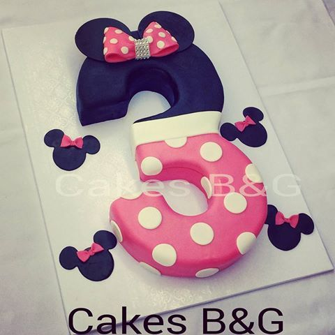Minnie mouse themed number 3 birthday cake cakesbg baking
