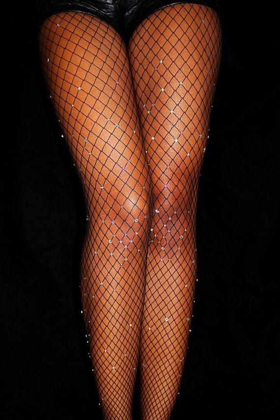 2c55db24575ca Diamond Fishnets, Swarovski Crystal, Swarovski Crystal Stockings,  Crystallized Fishnets, Sparkle Tights, Bedazzled Fishnets, Kylie Nets