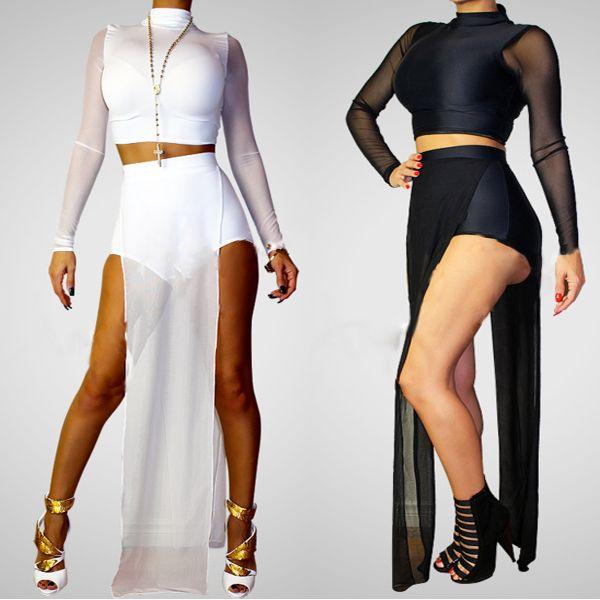 Black in white dresses n jumpsuit