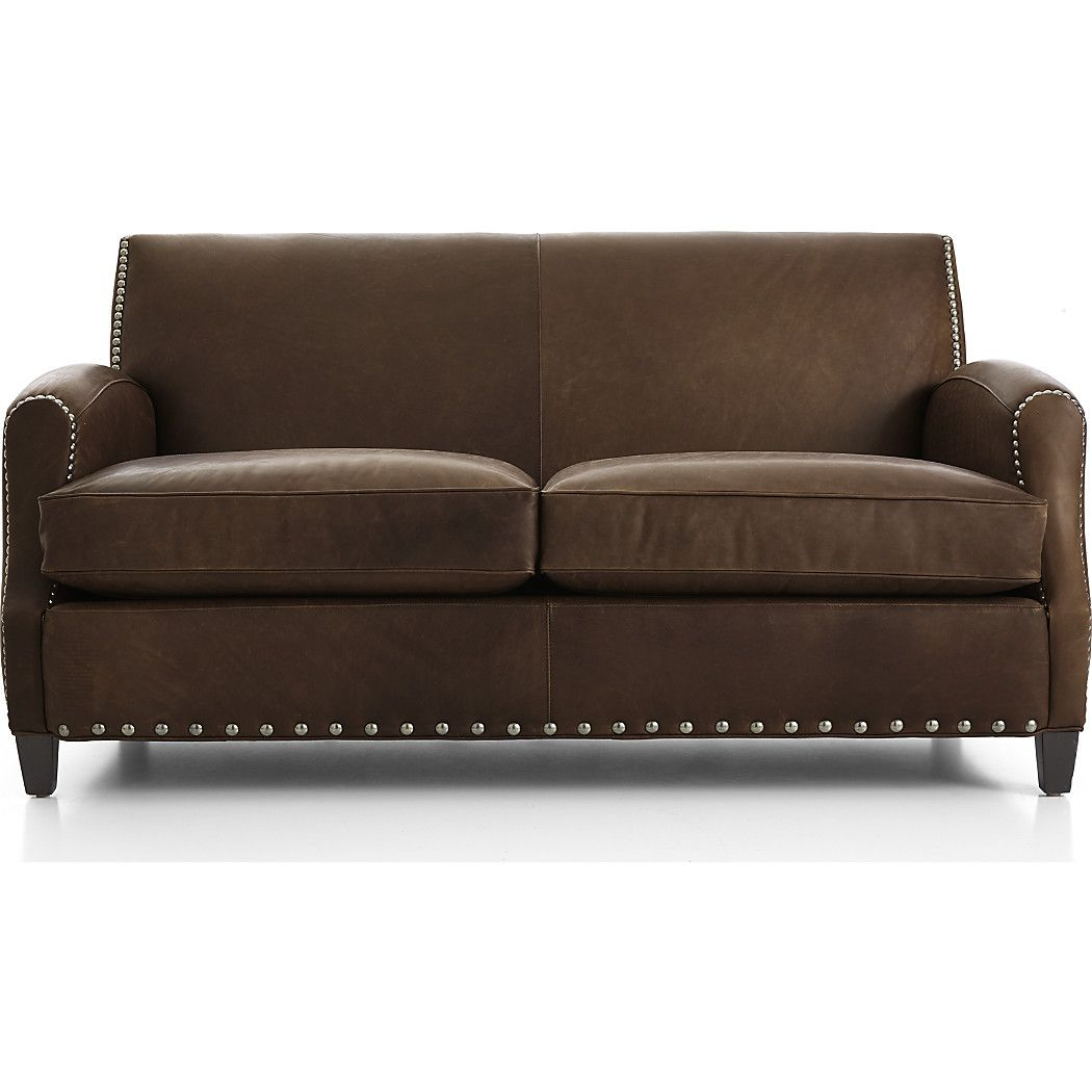 Incredible Metropole Leather Loveseat Crate And Barrel Leather Machost Co Dining Chair Design Ideas Machostcouk