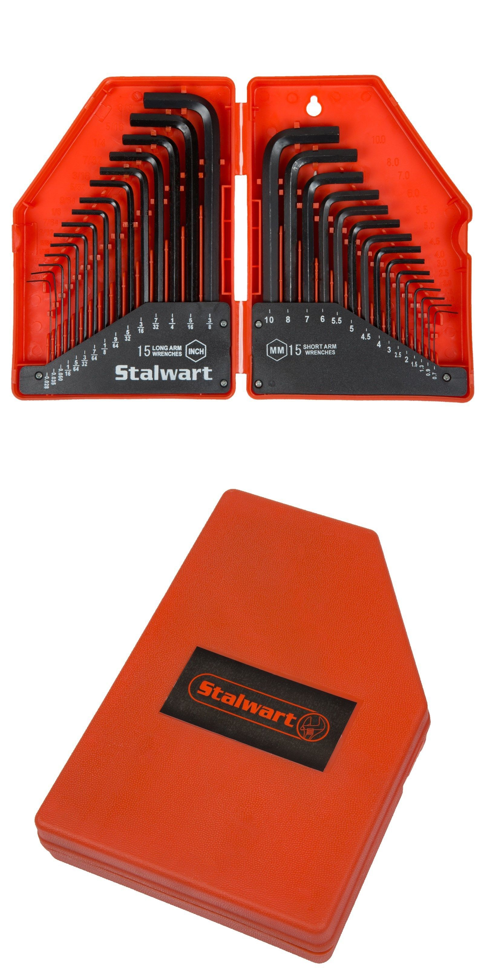 Hex Keys And Wrenches 42258 Stalwart 30 Piece Hex Allen Wrench Key Set Sae Metric Set In Case Buy It Now Only 13 99 On Ebay W Hex Key Wrench Set Wrench