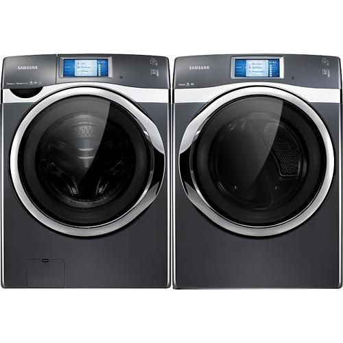 Samsung 7 5 Cu Ft 14 Cycle Steam Electric Dryer Onyx Smart