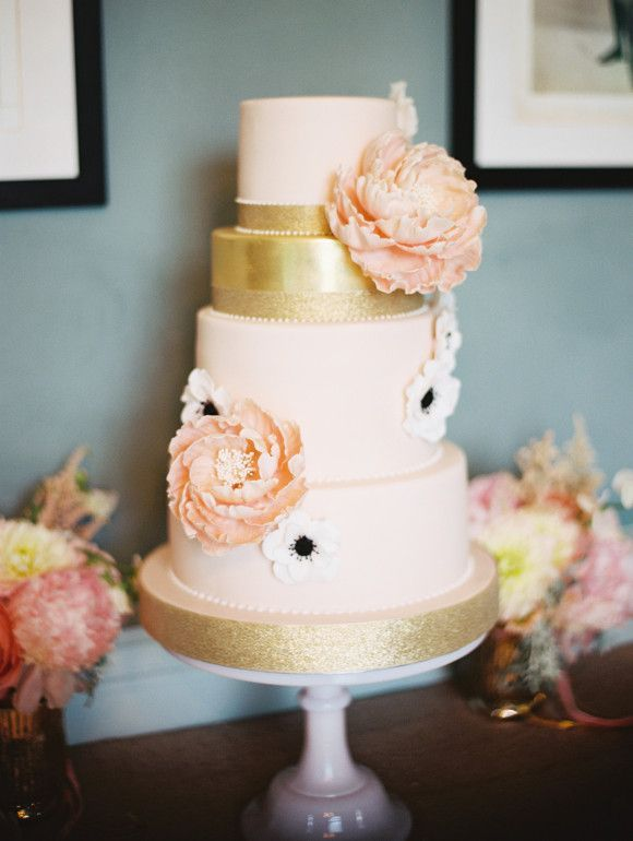 Pink White And Gold Real Wedding Sparrow