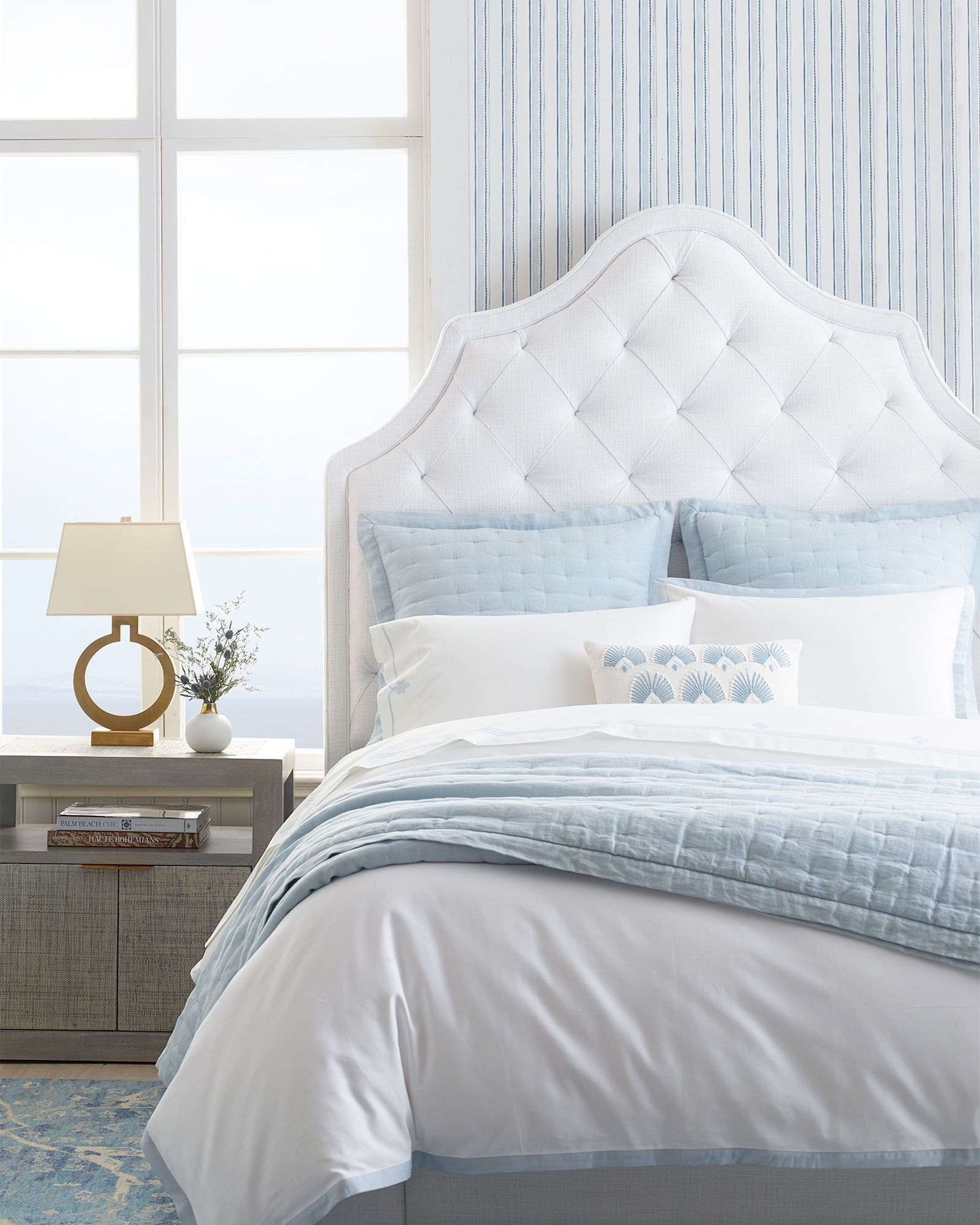 Swell Light Blue And White Bedroom Home Design Diy In 2019 Customarchery Wood Chair Design Ideas Customarcherynet