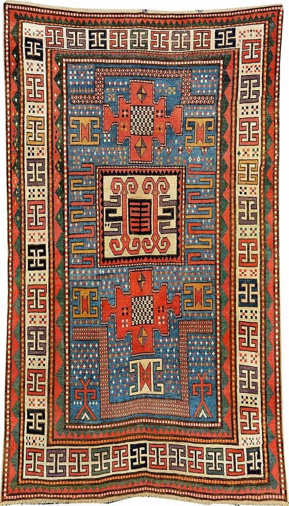Karachov Kazak, Southwest Caucasus, 19th century, wool/wool, approx. 258 x 152 cm