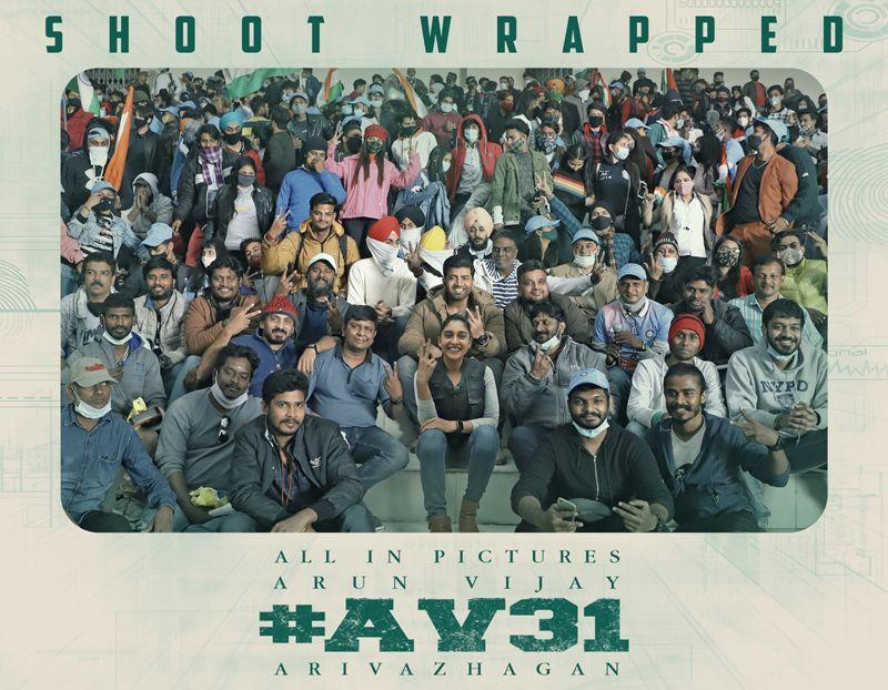 அருண் விஜய் நடிப்பில் இயக்குநர் அறிவழகன் இயக்கும் புதியபடமான #AV31 படப்பிடிப்பு நிறைவடைந்தது