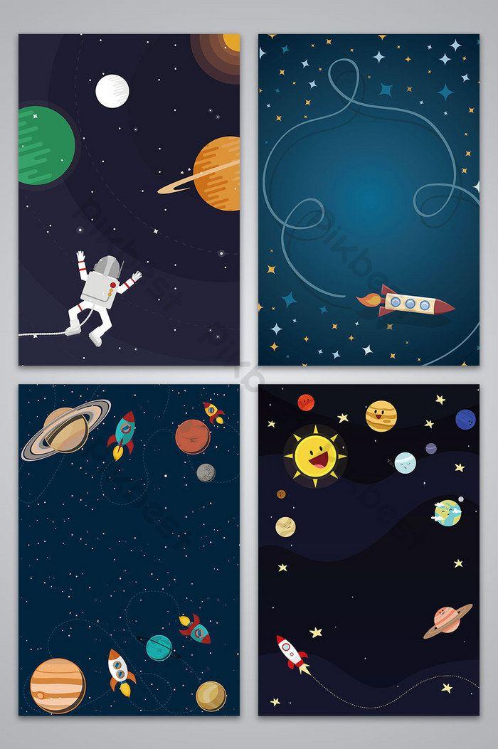 vector de dibujos animados dibujados a mano espacio galaxia fondo | Fondos Plantilla AI Descarga Gratuita - Pikbest