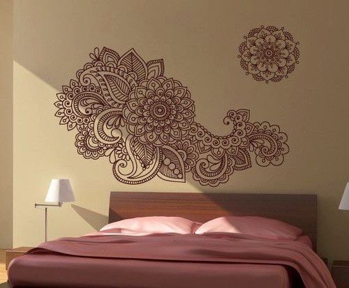 Floral Wall Decal   Indian Style Decal Picture On VisualizeUs
