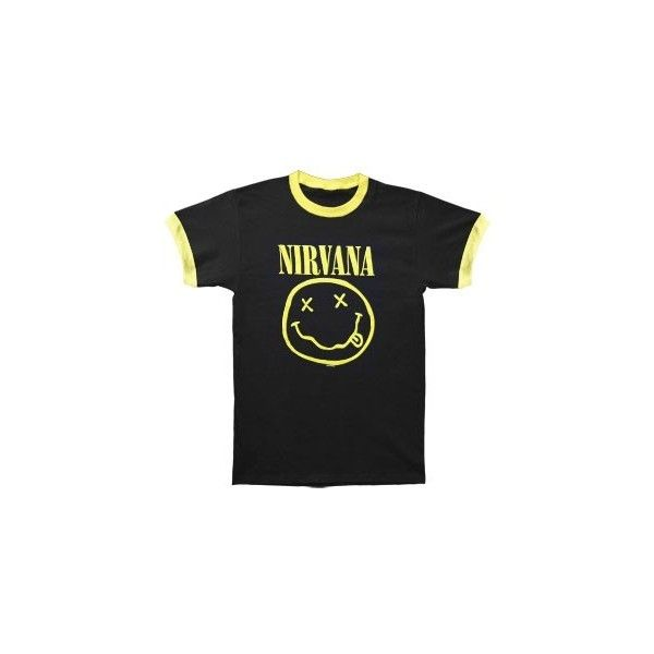 a9f318a2a Nirvana ($20) ❤ liked on Polyvore featuring tops, t-shirts, shirts, band  tees, short sleeves, vintage rock t shirts, rock t shirts, punk t shirts,  ...