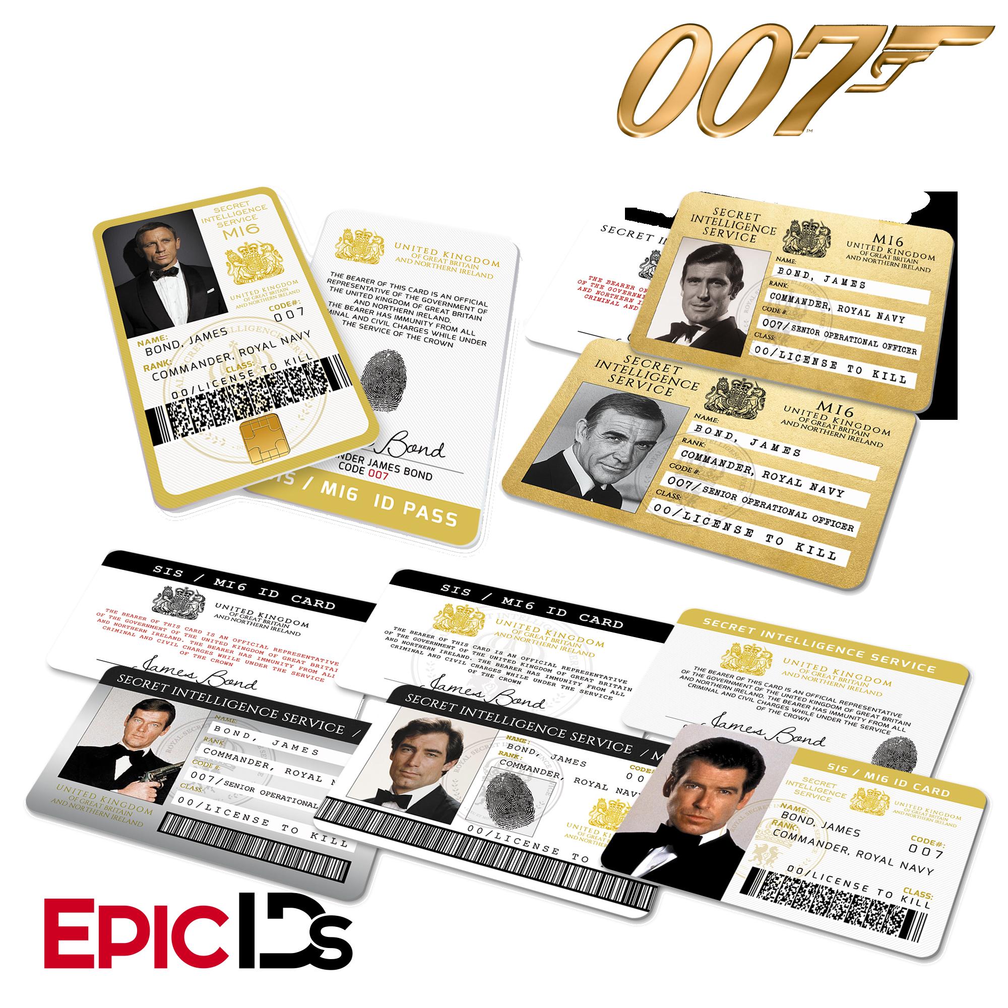 James Bond 007 Inspired Secret Intelligence Service Id Complete Collection James Bond Party James Bond Theme Party New James Bond