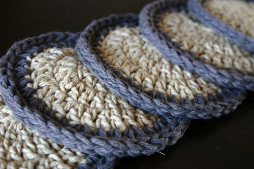 simple crochet coasters (pattern included) | Pinterest | Häkeln ...