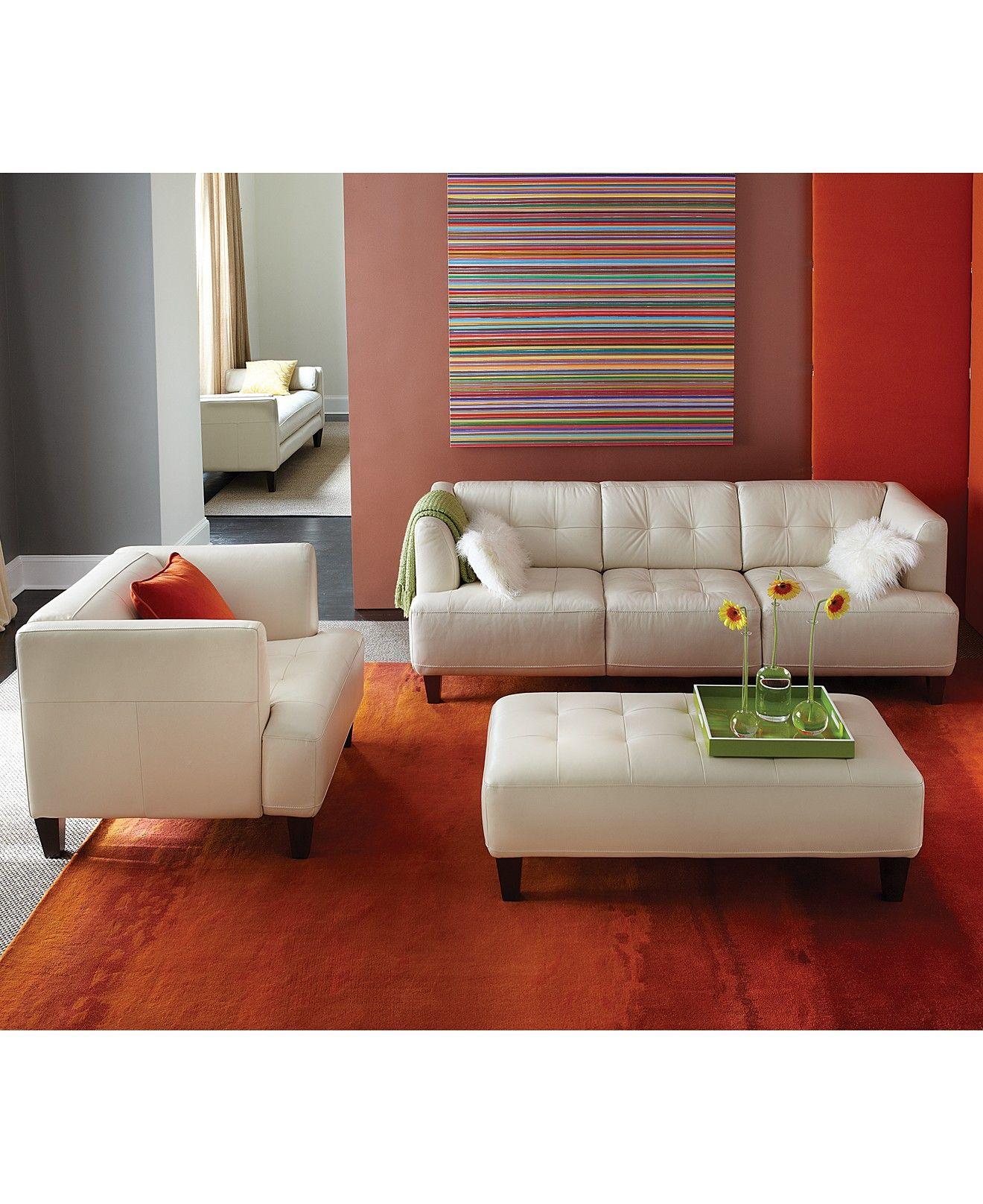 Alessia Leather Sofa Living Room