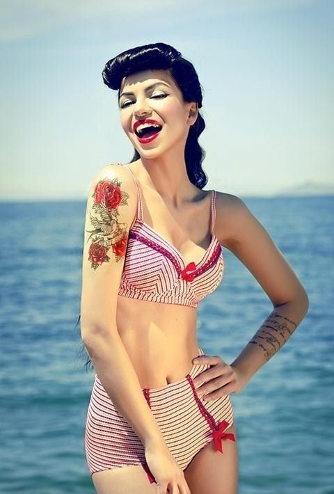 331ef47606e7 Rose tattoo | Ink & Inspiration | Pinterest | Pin up, Pin up girls ...