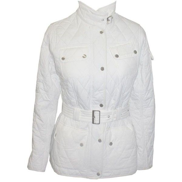 Barbour ladies white winter international polarquilt jacket ❤ liked on Polyvore