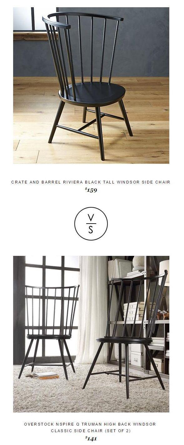 @crateandbarrel Riviera Black Tall Windsor Side Chair $159 Vs Overstock  Nspire Q Truman High Back
