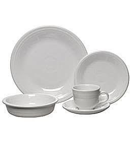 fiestaware five piece placesetting - white
