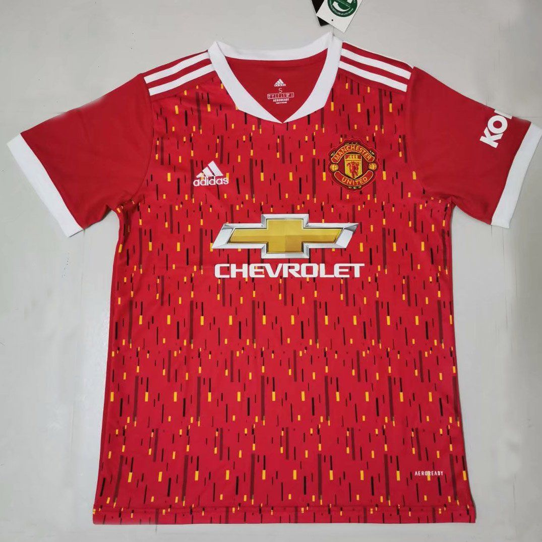 Manchester United Home Red Fans Soccer Jersey 2020 2021 In 2020 Manchester United Jersey Soccer Jersey