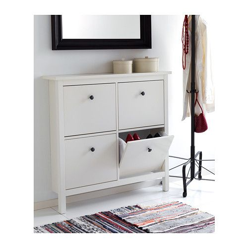 HEMNES Shoe cabinet with 4 compartments IKEA Helps you organize your ...