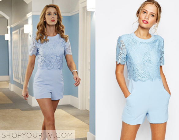 0f7cc06df1 Jane the Virgin  Season 2 Episode 2 Petra s Blue Lace Romper ...