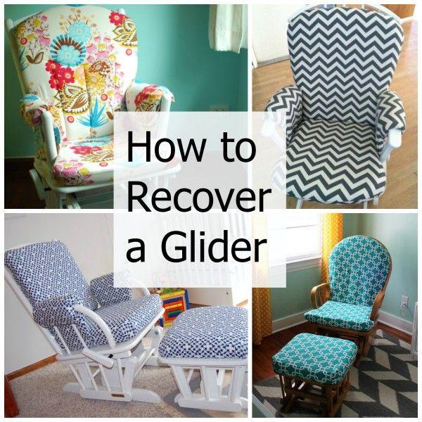 How To Recover A Nursery Glider Nursery Glider Diy Baby Stuff